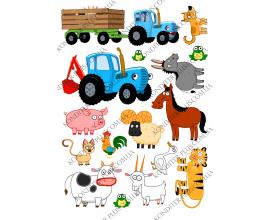 вафельная картинка трактор №7