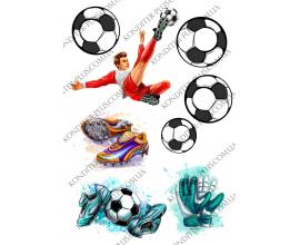 вафельная картинка футболист