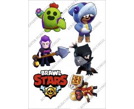 вафельная картинка brawl stars 17