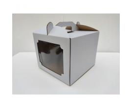 коробка для торта 25*25*20 с окном