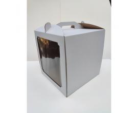 коробка для торта квадратное окно 30*30*25