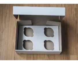 каробка на 4 кекса картон
