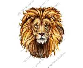 вафельная картинка лев 22 см