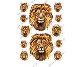 вафельная картинка лев 2 шт (12см)