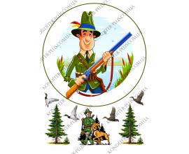 вафельная картинка охотник круг