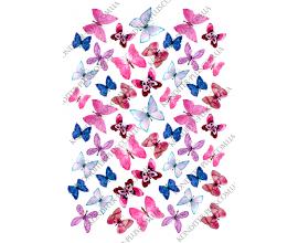 вафельная картинка бабочки12