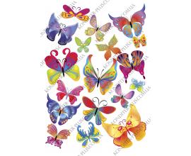 вафельная картинка бабочки 10
