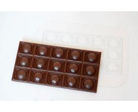 пластиковая форма шоколадка-футбольный мяч, 17*8,5 см