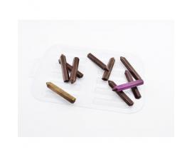 пластиковая форма карандаши 10 шт, 6,5*1,2*0,5 см
