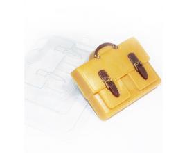 пластиковая форма портфель 2 кармана, 8*6,7 см