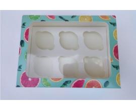 коробка на 6 кексов цитрус