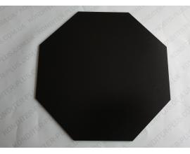 восьмиугольная подложка черная 23 см