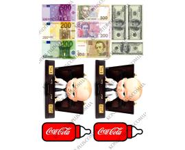 вафельная картинка босс молокосос и деньги