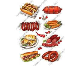 вафельная картинка еда