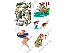 вафельная картинка рыбак и девушка