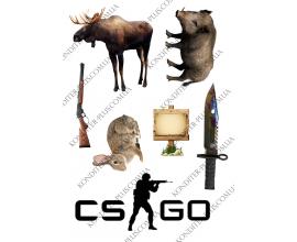 вафельная картинка охотник и игра