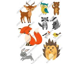 вафельная картинка животные для детей