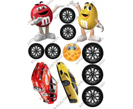 вафельная картинка машины, колеса