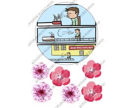 вафельная картинка 30 лет, цветы