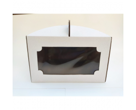 коробка для торта 25*25*15 с окном
