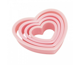 набор розовое сердцеРазмеры: от 3,3х2,8см до 6,6х6,8см