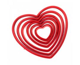 набор сердце красный, 6 шт