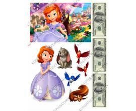 вафельная картинка софия прекрасная +доллары