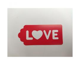 "бирка красная ""Love"", 10 шт"