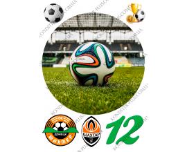 вафельная картинка футбол круг 20 см №3