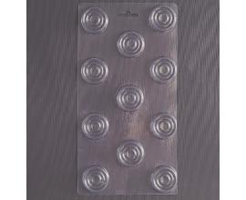 пластиковая форма шашки, 3*0,5 см