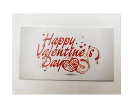 бирка День валентина на белом фоне, 10 шт, 5*9 см