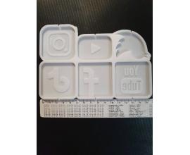 молд для леденцов ассорти иконки соцсетей, 5 см