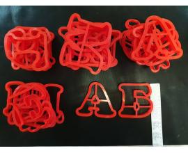 набор алфавит пластик, h-8 см, бок 1 см, 35 букв (и укр)
