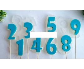 молд для леденцов цифры ералаш, 8 см