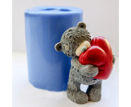зд молд мишка с сердцем, 8 см