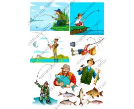 вафельная картинка рыбаки и рыбы №2