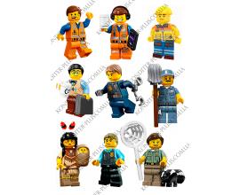 вафельная картинка персонажи lego №8