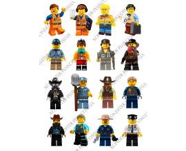 вафельная картинка 6 см персонажи lego № 9