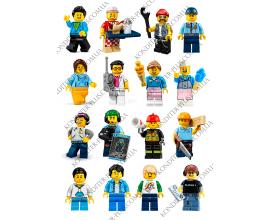 вафельная картинка 6 см персонажи lego № 13