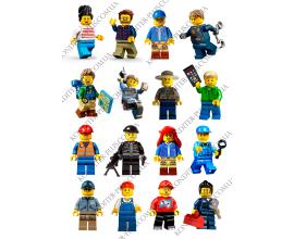 вафельная картинка 6 см персонажи lego № 11