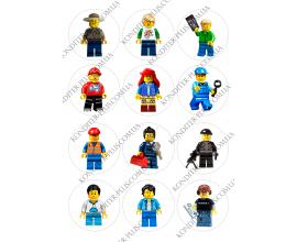 вафельная картинка персонажи lego в круге № 17