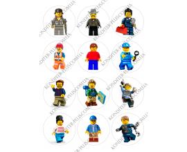 вафельная картинка персонажи lego в круге № 16