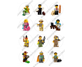 вафельная картинка персонажи lego в круге № 19
