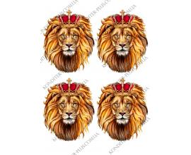вафельная картинка лев с короной 12 см