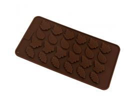 Силиконовая форма для шоколада Листья ассорти