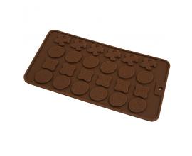 Силиконовая форма для шоколада и карамели узоры