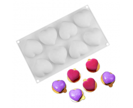 Силиконовая форма для евро-десертов 3D Сердца