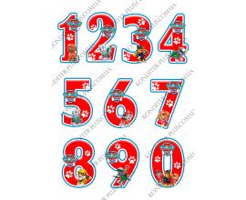 вафельная картинка цифры щенячий патруль