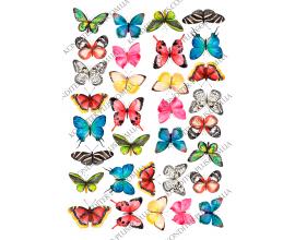 вафельная картинка бабочки 22