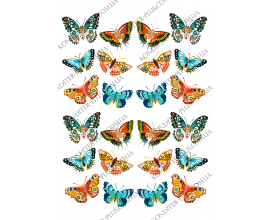 вафельная картинка бабочки 21